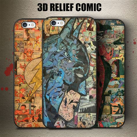 The Calling Batman Comic Iphone Iphone 6 5s Oppo F1s Redmi comic style the flash batman harley quinn phone conque 5s se 6 6s plus cover for iphone