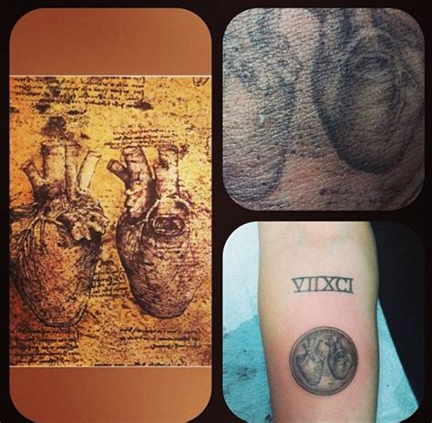 da vinci tattoo miley cyrus gets leonardo da vinci from