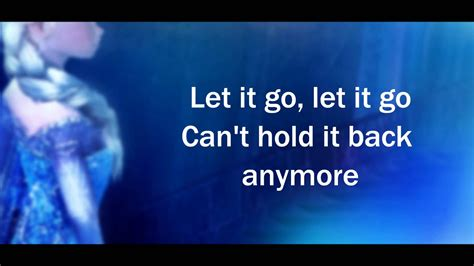 go to video let it go excerpt link to full lyric video in description