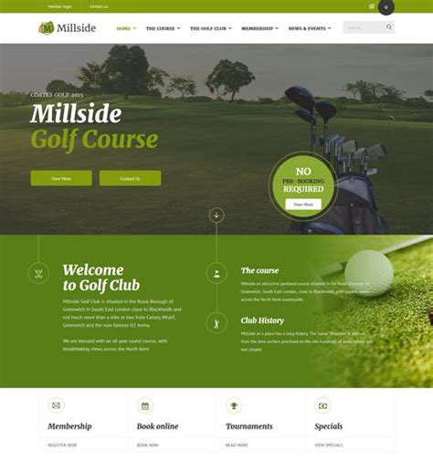 40 Best Sport Website Templates Free Premium Freshdesignweb Golf Website Template Free