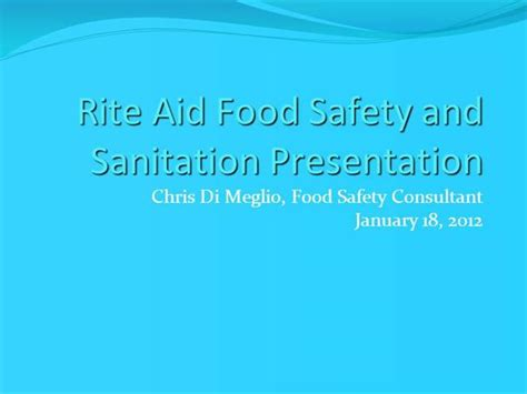 rite aid help desk rite aid food safety and sanitation presentation authorstream
