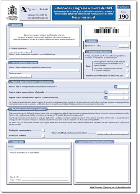 manual irpf 2015 aeat la modificaci 211 n del modelo tributario 190 efectuado por la
