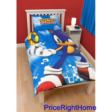 New Sonic The Hedgehog Spin Duvet Cover Official Bedding Sonic The Hedgehog Bed Set