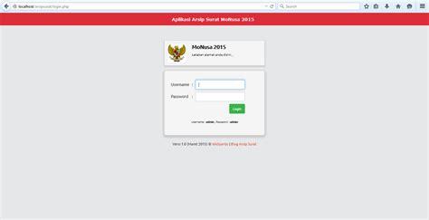 download free aplikasi arsip surat php template gratis