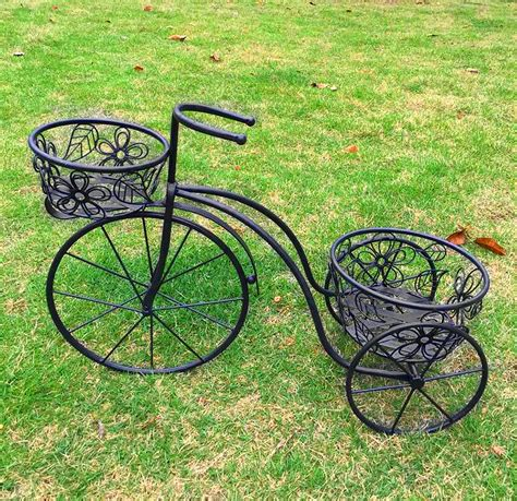 Tricycle Planter by Charles Bentley Garden Wrought Iron Farthing