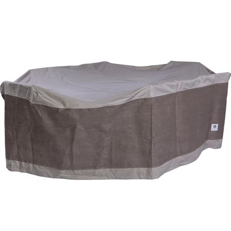 Rectangle Patio Table Cover Duck Covers 127 In Rectangle Patio Table With Chairs Cover Lto12784 The Home Depot