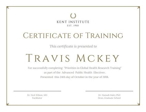 free templates for training certificates classic gold training certificate templates by canva