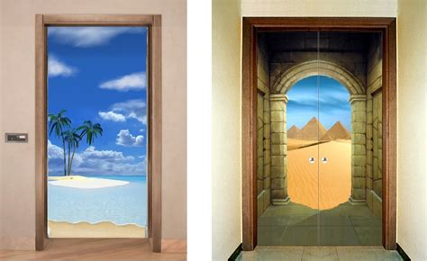 decorazioni porte interne ste trompe l oeil per rivestire le porte trompe l