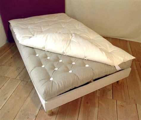 matela futon futon en de mouton avec surmatelas