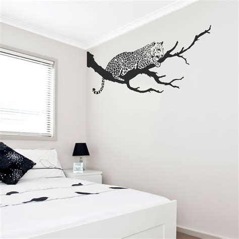 branch wall stickers jaguar on branch wall decal