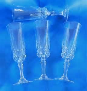 Glassware Stemware Set Of 4 Luminarc Imperator Chagne Flutes Glasses