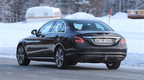 mercedes c class facelift flaunting its new taillights