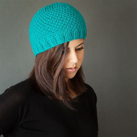 Knit Beanie free modern knit beanie pattern leelee knits