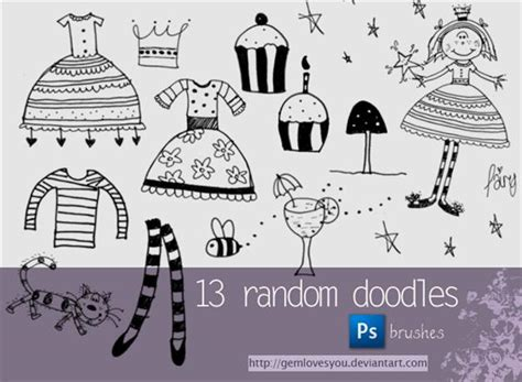 how to create a doodle in photoshop doodles and sketches brushes psddude