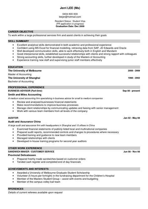 a exle of a resume gmagazine co