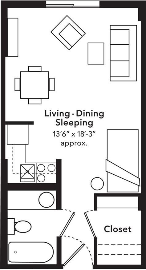 studio apartment size studio blueprints studio apartments include a full size