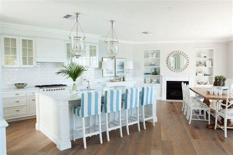 Beachy Looking Bar Stools by Angled Kitchen Cottage Kitchen Veranda House