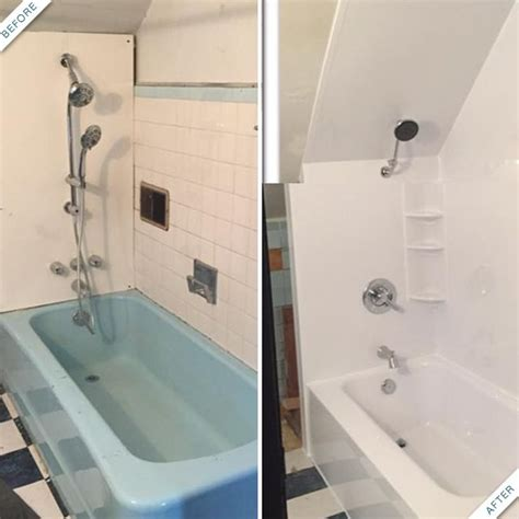 acrylic bathtub liner installed in shavertown rebath 74 best images about bath fitter before after on pinterest
