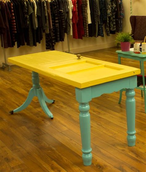 diy door table legs recycled vintage door table painted wood with different wooden legs upcycle recycle salvage