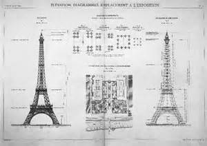Eiffel Tower Floor Plan Eiffel Tower Plans And Stages Of Construction Paris