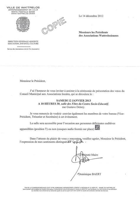 Modèle De Lettre D Invitation Pour Un Maire Ca Se Passe Comme 231 A 224 Wattrelos Mais Autrement Ailleurs