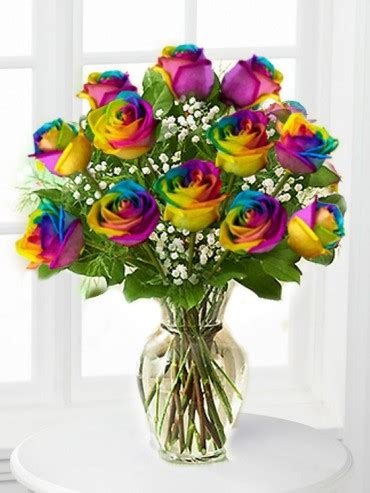 rainbow colored roses rainbow roses multi colors dyed in ny flowers