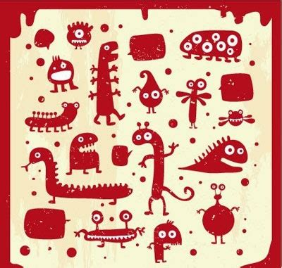many doodle monsters vector many doodle monsters vector free