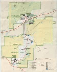 petrified forest arizona map arizona