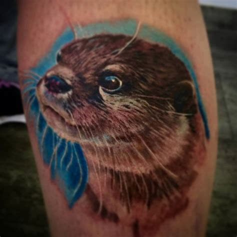 otter tattoo adorable otter venice designs