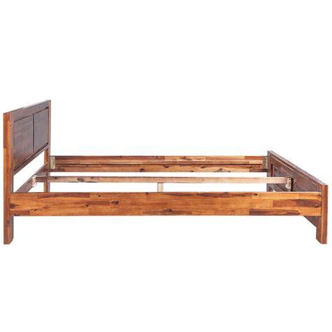 Superking Wooden Bed Frame Vidaxl Bed Frame Solid Acacia Wood Brown 180x200 Cm 6ft King Vidaxl Co Uk