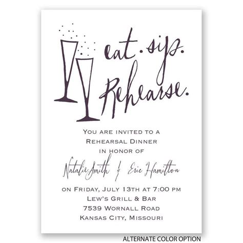 Wedding Dinner Invitation Card Template by Best 25 Rehearsal Dinner Invitations Ideas On