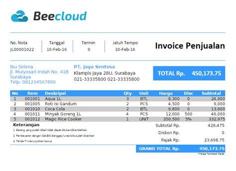 Contoh Surat Penawaran Barang Berupa Komputer by Pengertian Dan Contoh Invoice Bagi Perusahaan Beecloud