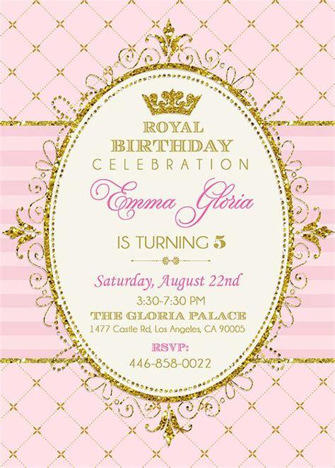 printable royal invitation royal princess birthday invitation printable digital