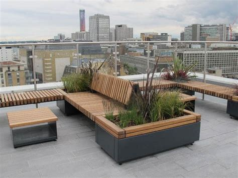 planters with bench seating railroad planters with integrated seating furnitubes international esi external works