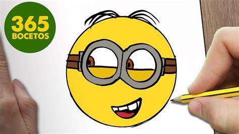 imagenes kawaii minions como dibujar un minion emoticonos whatsapp kawaii paso a