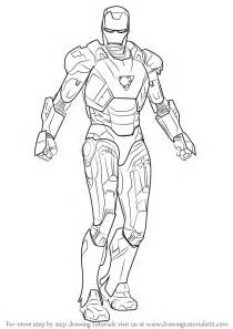 ironman drawing learn how to draw iron iron step by step