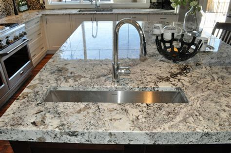 Kitchen Antique White Cabinets by Alaska White Granite Granite Countertops Granite Slabs
