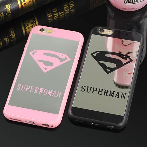 Iphone 7 Anti List Chrome Sale clespruce cell phone mirror for iphone 7 6 6s plus 5 5s superman soft silicone back