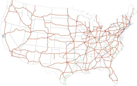 map of interstates in usa interstate highway system