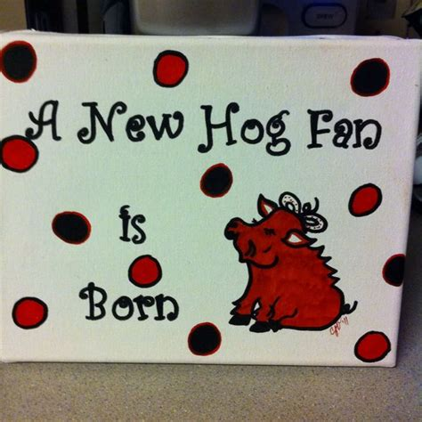 gifts for razorback fans great baby shower gift for a razorback fan by cathy