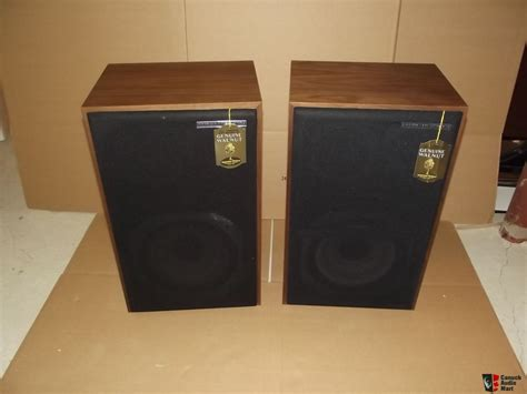 Vintage American Acoustics D3550e Box Pair Of American Acoustics Labs Aal Classic Series 110 Speakers New With Original Box Photo