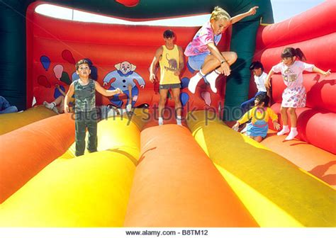kids bounce house bounce house stock photos bounce house stock images alamy