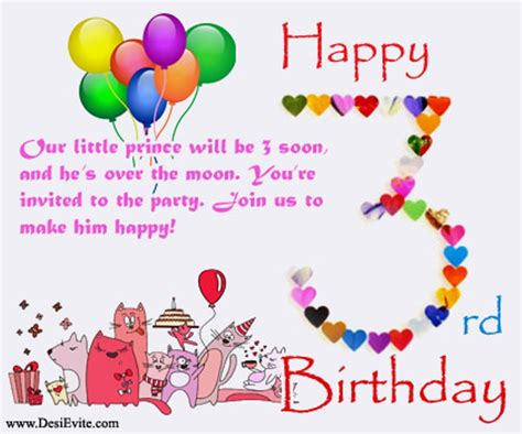 Birthday Quotes For A 3 Year Boy Birthday Wishes For Three Year Old Wishes Greetings