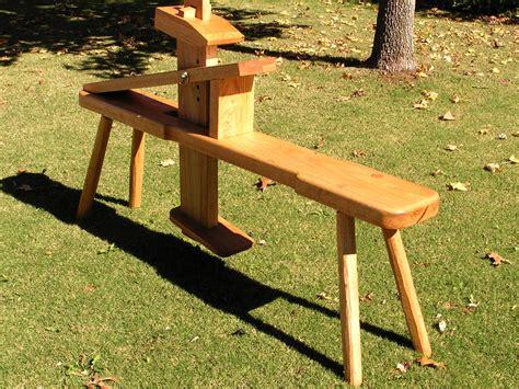 shaving bench plans shaving horse by doct lumberjocks com woodworking