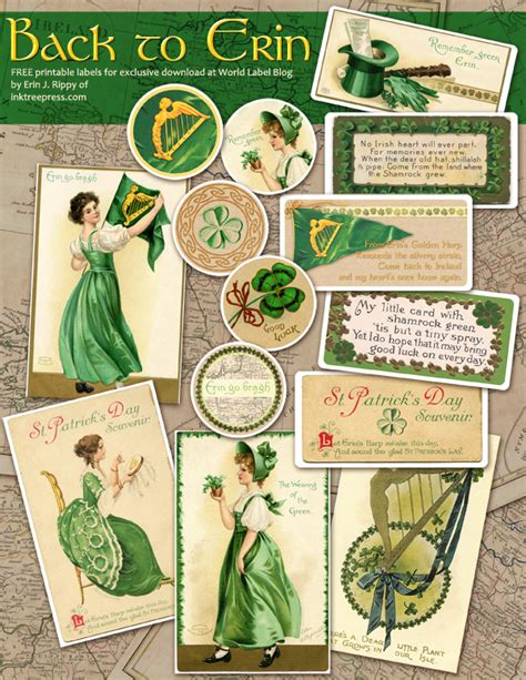 vintage st template free label templates worldlabel