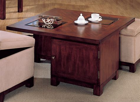 square cocktail table with 4 ottomans homelegance symphony square cocktail table ottoman peat