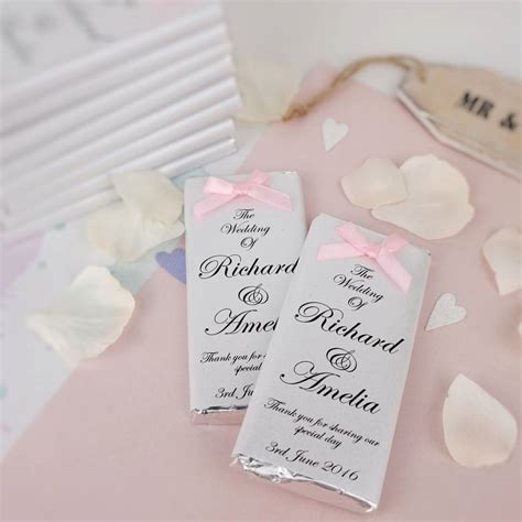 Wedding Favors by Bow Chocolate Wedding Favours By Tailored Chocolates And
