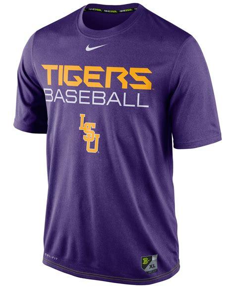 nike s lsu tigers baseball legend dri fit t shirt in