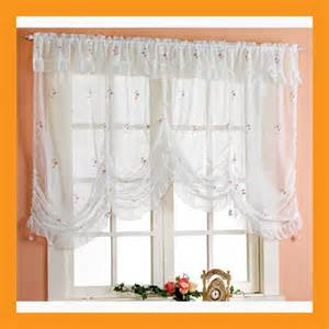 Balloon Curtains For Kitchen Items Similar To Embroidered Balloon Shade Sheer Valance Curtain Window Treatment Kitchen