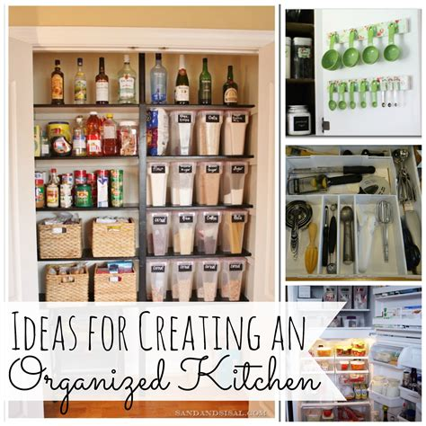 ideas for creating and organized kitchen my for words